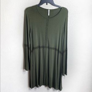 Celeste army green dress